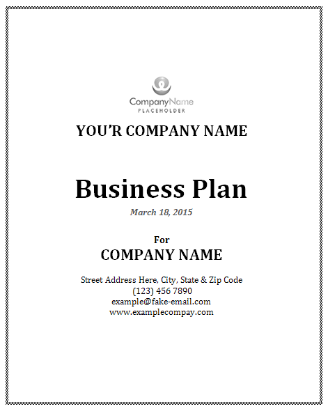 Businessplanoutlinetemplate - Business plans templates