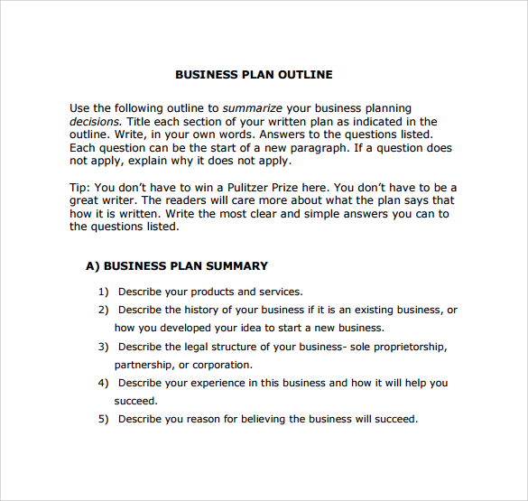 Business Plan Templates Online - How to start a business plan template