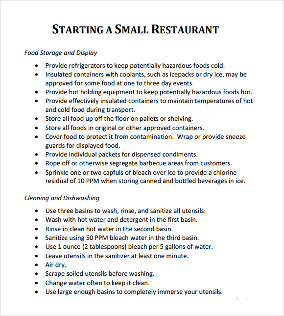 Business Plans For Restaurant | Planning Business Strategies