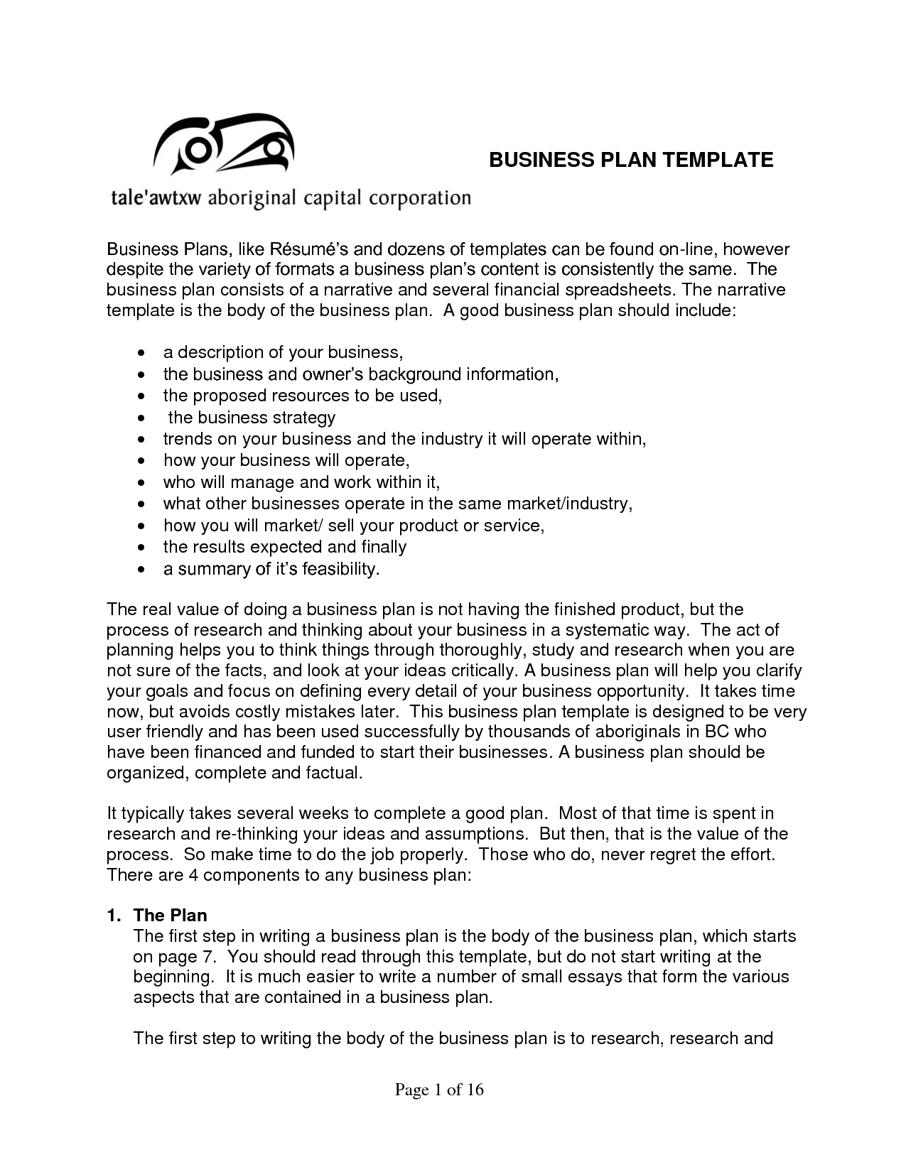 sample business plan templates - android-app.info