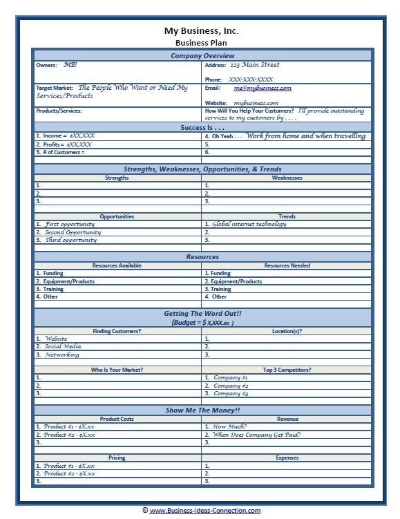 Cell phone business plan template saigontimesfo