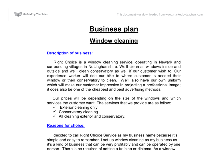 A FREE Sample Cleaning Service Business Plan Template