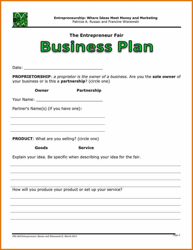 Writing Business Plans Planning Business Strategies - Creating a business plan template