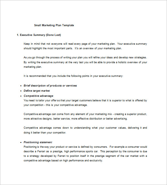 Small business plan template free download pdf accmission