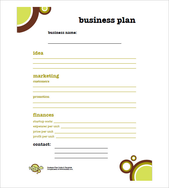 how-to-write-a-simple-business-plan-template-pdf